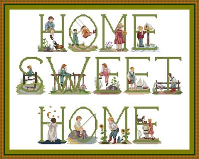 HOME SWEET HOME ~ needlepoint and crossstitch set kits