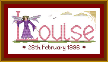 Cross stitch fairy Louise
