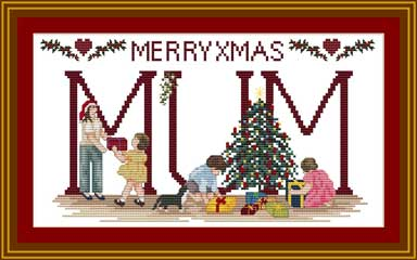 Cross stitch Christmas MUM