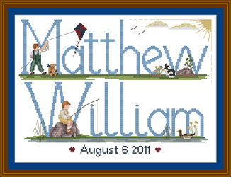 Cross stitch for baby boys